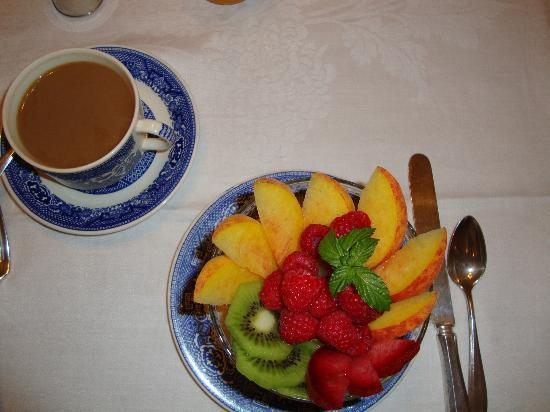 Garden Wall Inn: fresh fruit to start breakfast