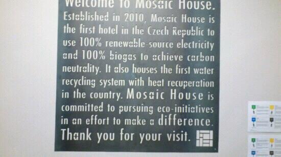 Mosaic House: welcome
