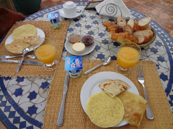Breakfast in Riad Bahia Salam in Marrakech