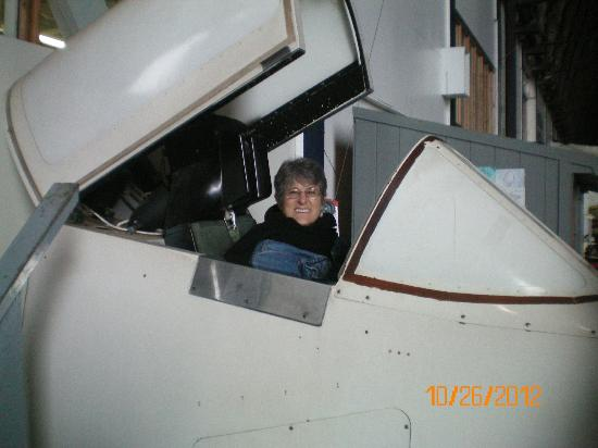 Tillamook Air Museum: Ruth in simulator