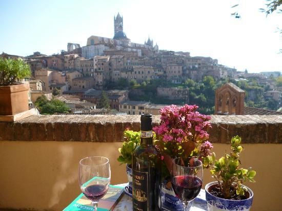 Campo Regio Relais: Excellent view from the terrace