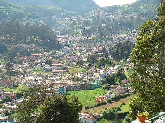 Gem Park-Ooty: The Ooty city valley below