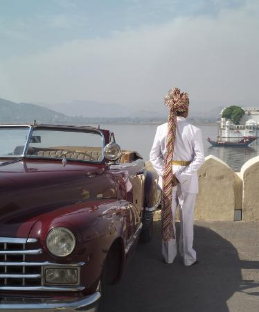 Taj Lake Palace Udaipur: Vintage Car Airport Transfer