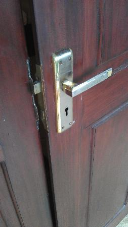 The Galle Heritage Villa: You room door lock.  Same key all rooms.