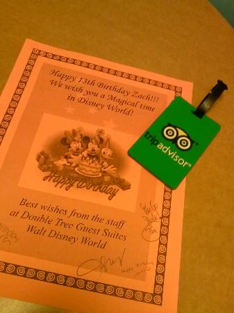 DoubleTree Suites by Hilton Hotel Orlando - Lake Buena Vista: gift for bday