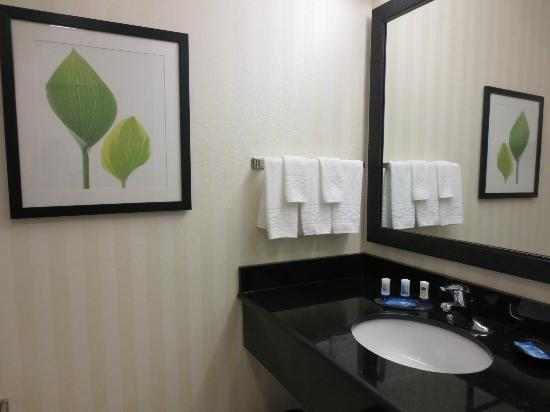 Fairfield Inn &amp; Suites New Bedford: Nice modern bathroom