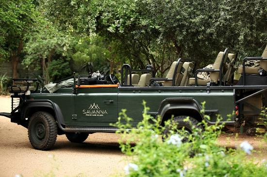 Savanna Private Game Reserve: Our vehicle