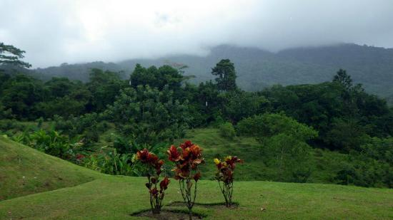 Hotel Lomas del Volcan: Landscape view from back porch from room 503