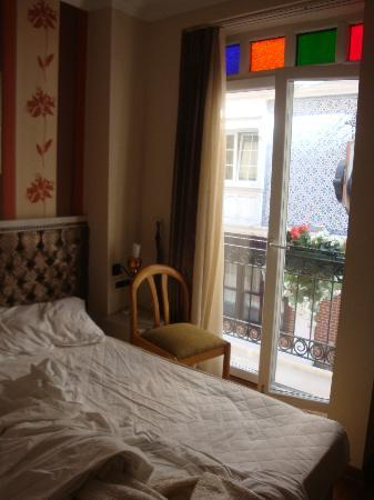 Hotel Evsen: Room with French Balcony.