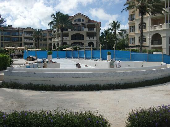 The Somerset on Grace Bay: Hammer drills and concrete saws!