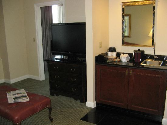 Embassy Suites Portland - Downtown: Bedrooms Off of the Large Living Room in 2-BR Suite