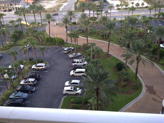 Sterling Resort: Parking lot from 8th floor