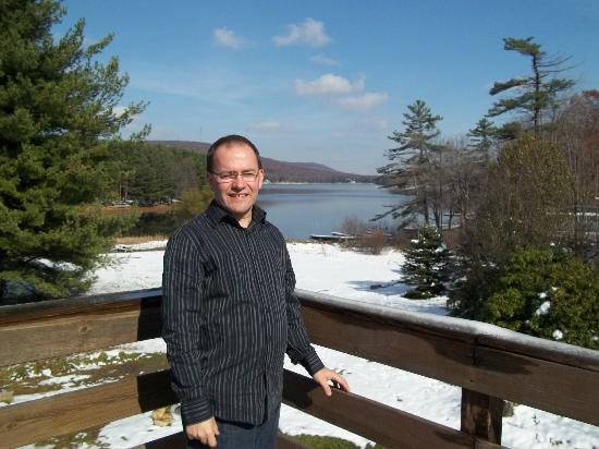 Inn At Deep Creek: Me off the deck on the second story.