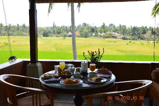 Alam Jiwa: Breakfast with rice field view