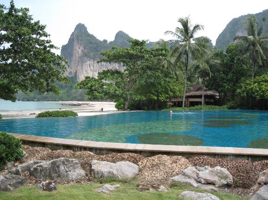 View from the pool area of Railay Beach - Picture of ...