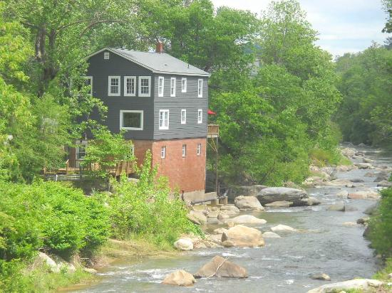River House at Chimney Rock: View of the River House from the Rocky Broad River
