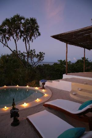 Ras Kutani: Relax by your private plunge pool at our Upepo Suite Collection