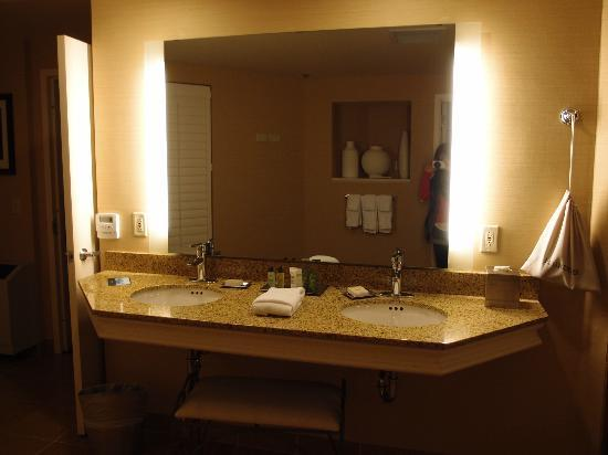 Hilton Madison Monona Terrace: sink in master bath