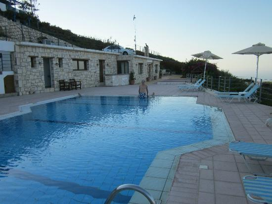 Pool area picture of nymphes luxury apartments agia for Luxury pool area