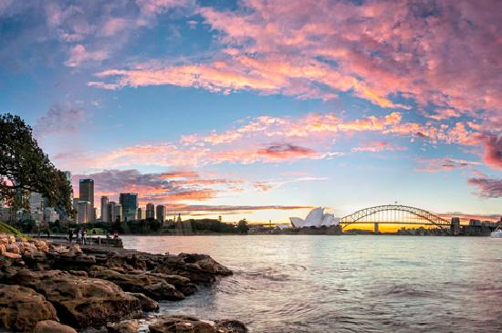 Sydney Harbour Sunset. Credit: Kajo Merkert