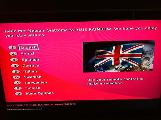 Blue Rainbow ApartHotel - Manchester Central: nice welcome :)