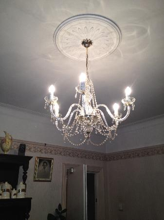 Lavender House: chandelier