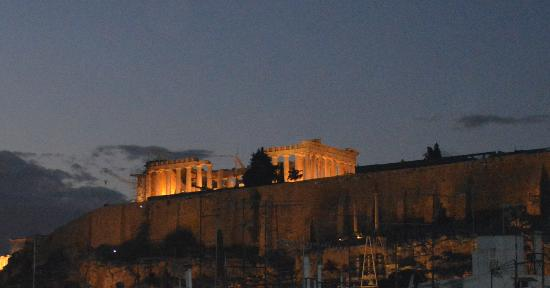 Athens Studios: View of Acropolis from rooftop bar