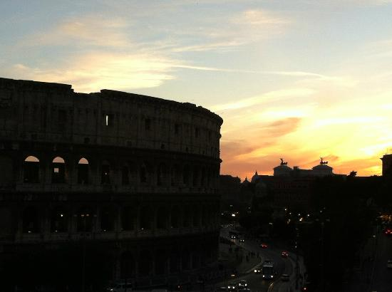 Palazzo Manfredi - Relais & Chateaux: sunset from on top of the hotel
