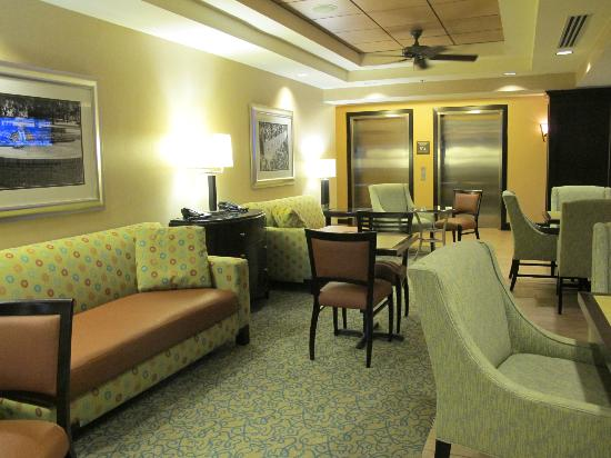 "Hampton Inn & Suites Gainesville-Downtown: The beautiful ""tea lounge"" as I like to call it. :) My favourite hang out spot."