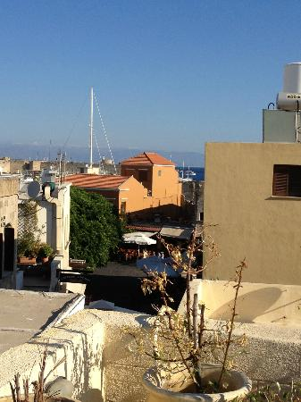 Spot Hotel: view of the port area from the roof garden
