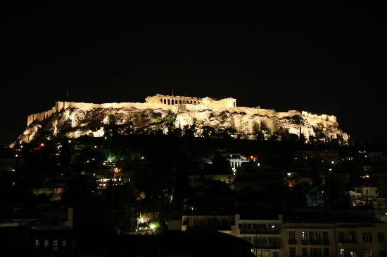 Plaka Hotel: View from rooftop