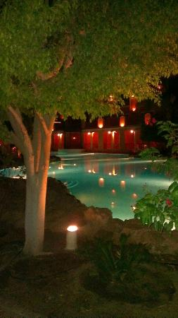 The Grand Resort: Pool area at night
