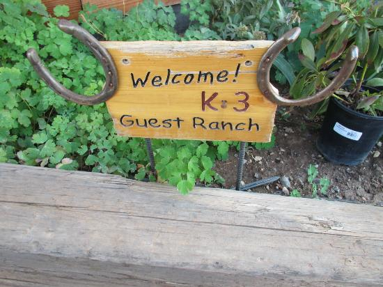‪‪K3 Guest Ranch Bed & Breakfast‬: Welcome!