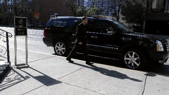 Grand Hotel Toronto: The complimentary hotel shuttle service (an Escalade!)