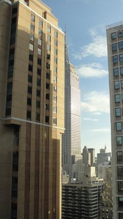 Courtyard New York Manhattan/Times Square: View from our room on the 33rd floor!  I've stayed here many times and usually have a view of an