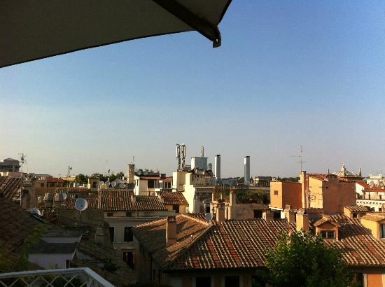 Hotel Raphael: View from the roof top garden