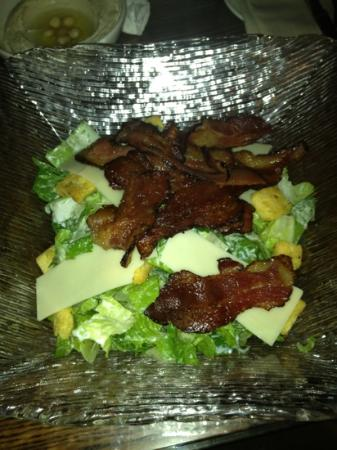 Hyatt Regency Dubai: Caesar salad with veal bacon