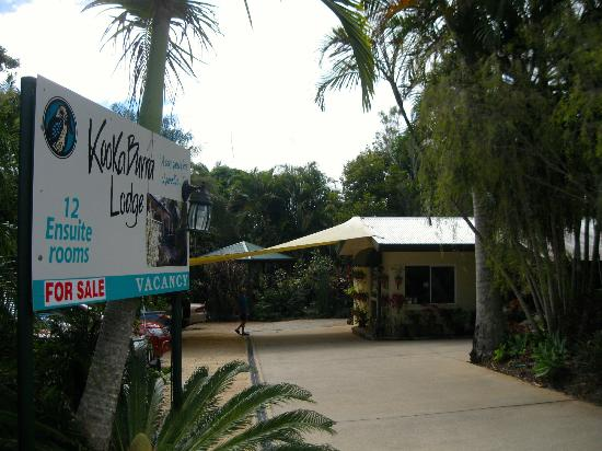 Entrance to Kookaburra Lodge