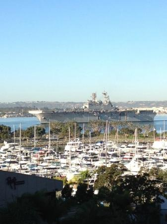 San Diego Marriott Marquis & Marina: VIew from our room.
