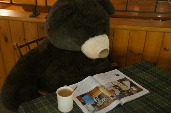 Northern Lights Lodge: Breakfast bear
