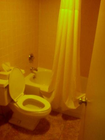 Quality Inn: My phone camera made the restroom look yellow.