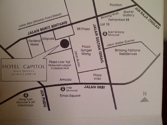 Capitol Hotel: Map of the Vicinity