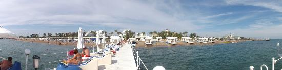 Titanic Beach Lara Hotel: panoramic beach view