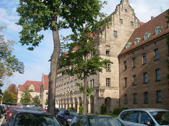 a building from the nuremberg palace justice complex. Black Bedroom Furniture Sets. Home Design Ideas