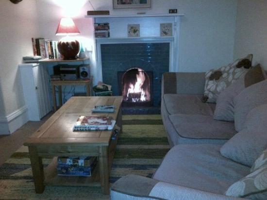 Riverside: Log fire in the lounge
