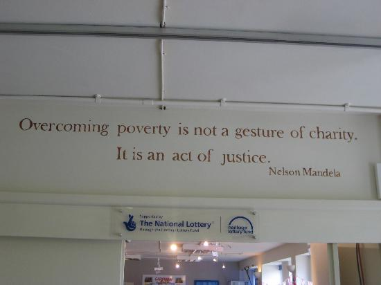 Garstang, UK: Nelson Mandela quote at The Fig Tree and Cafe