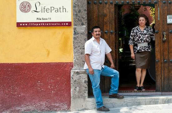 LifePath Retreat House: Fernando and Belen are loyal staff members. They are here to make sure you are comfortable.