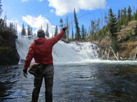 Spectacular waters picture of montana angler fly fishing for Montana fishing trips