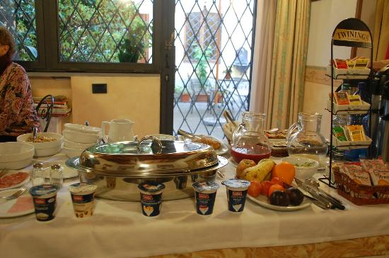 Residenza Il Villino: Our breakfast included scrambled eggs -- delicious with Italian bread!