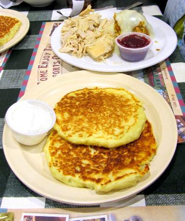 Yoder's Restaurant: Turkey with a side of potato pancakes